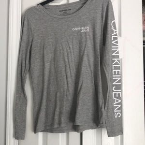 calvin klein long sleeve tee